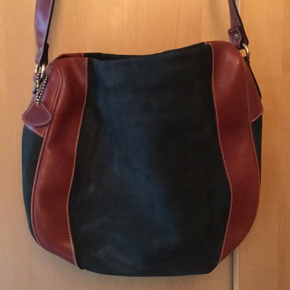 Bally Handbags - Bally bag. Lined green suede with tan leather